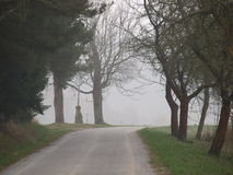 Fog over the landscape of South Bohemia. Czech Republic Royalty Free Stock Photo