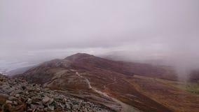 Fog over mountain landscape