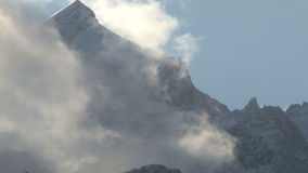 Fog over mountain range. Video of fog over mountain range stock video footage