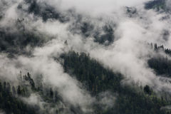 Fog over the mountains. Royalty Free Stock Photo