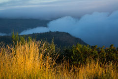 Fog over  mountains Royalty Free Stock Photography