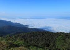 Fog over the mountains Royalty Free Stock Photos