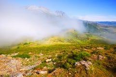 Fog over  mountains Royalty Free Stock Photos