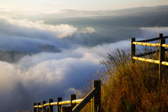 Fog over  mountains Stock Image