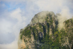 Fog over the mountains Stock Photos