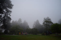 Fog over a playground Royalty Free Stock Photography