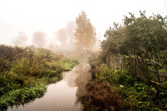 Fog over the river Royalty Free Stock Image