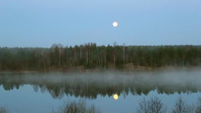 The fog over the river stock video footage