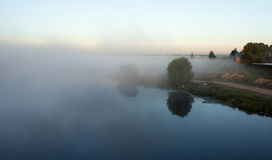 Fog over the river. Stock Photography