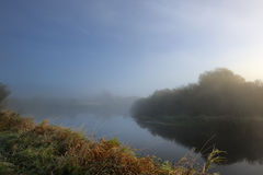 Fog over River in the Morning Royalty Free Stock Photography