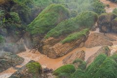 Fog over the river, Vietnam, Dalat Royalty Free Stock Photography