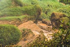 Fog over the river, Vietnam, Dalat Stock Photos