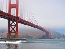 Fog over San Francisco Golden Gate Bridge Stock Image