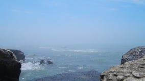 Fog over the sea. stock footage
