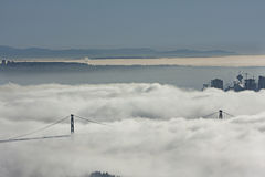 Fog over Vancouver city Royalty Free Stock Photo