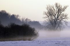 Fog over Wintry landscape Stock Photography