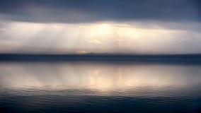 Fog in Passignano at Lake Trasimeno, Umbria, Italy Stock Photo