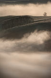 Fog - Peak District Landscape Stock Images