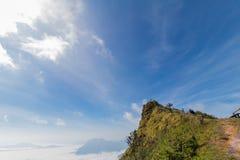 Fog on Phu Chee Dao. In ChiangRai royalty free stock photos