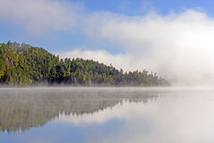 Fog and Reflections in Canoe Country Royalty Free Stock Photography