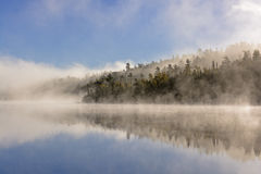 Fog and Reflections in the North Woods Royalty Free Stock Photos