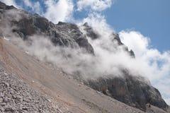 The Fog Rising Pena Olvidada. Royalty Free Stock Images