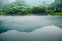 Fog and river. Fog and river  in the morning Royalty Free Stock Image