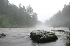 Fog and river. Foggy river Royalty Free Stock Photography