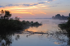 Fog on the river Royalty Free Stock Photos