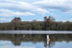 Fog river Stock Photo