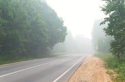 Fog on road Royalty Free Stock Image