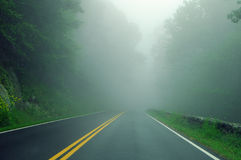 Fog on Road Royalty Free Stock Photo