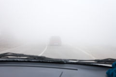 Fog Road stock images