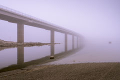 Fog and road closed Royalty Free Stock Image