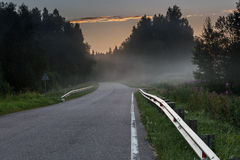 Fog on the road Royalty Free Stock Image