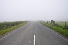 Fog, on the road, Southwest England Royalty Free Stock Image