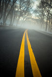 Fog on Road Stock Photos