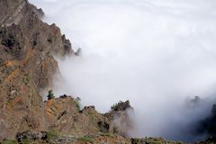 Fog on the rocks at La Palma Stock Photo