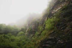 Fog on rocks Stock Image