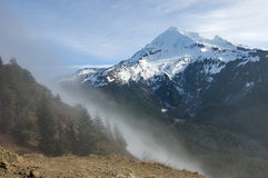 Fog rolling over the pass near Mt Hood Royalty Free Stock Photography