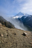 Fog rolling over the pass near Mt Hood Royalty Free Stock Photos