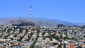 The fog rolls in over west San Francisco Royalty Free Stock Photo