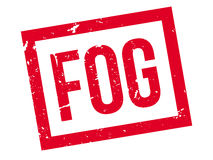 Fog rubber stamp Stock Photo