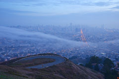 Fog in san francisco Royalty Free Stock Photography