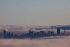Fog and San Francisco Royalty Free Stock Image