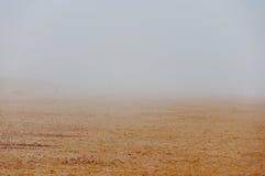 Fog on a sand beach Stock Photography