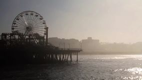 Fog at the Santa Monica Pier, End Of Route 66, Los Angeles  (Cities) stock video footage