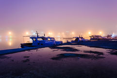 Fog On The Seaside Town Royalty Free Stock Images