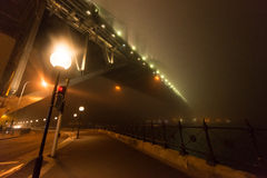 Fog shrouds   the Sydney Harbour B Royalty Free Stock Image