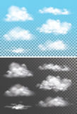 Fog , smoke and cloud  transparent special effect. Stock Images